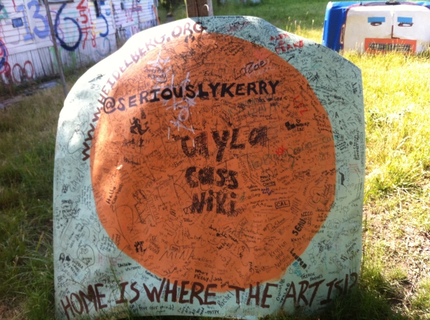 Graffiti at the Heidelberg Project. Photo by Lise Haller Baggesen